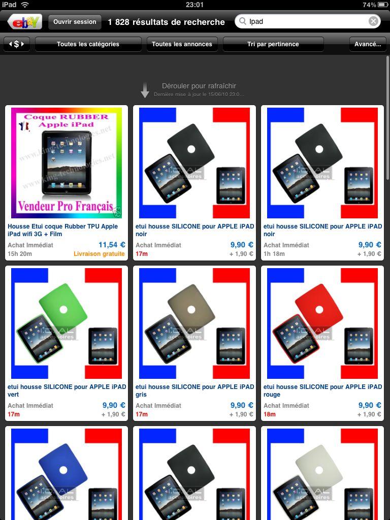 ebay pour l u2019ipad  le monde des ench u00e8res d u00e9barque sur votre ipad  gratuit